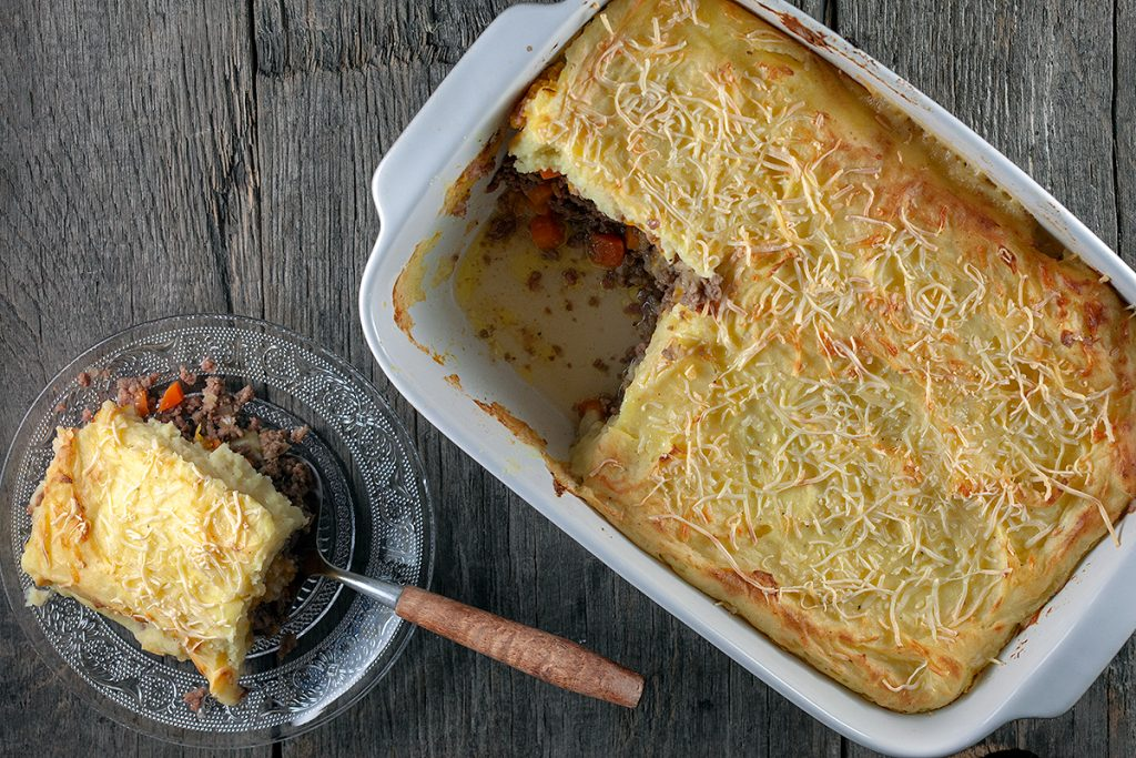 Hachis parmentier with pumpkin