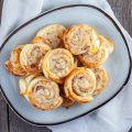 Ham and cheese rolls 120x120 - Ham and cheese pinwheels