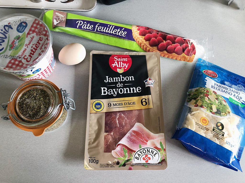 Ham and cheese rolls ingredients
