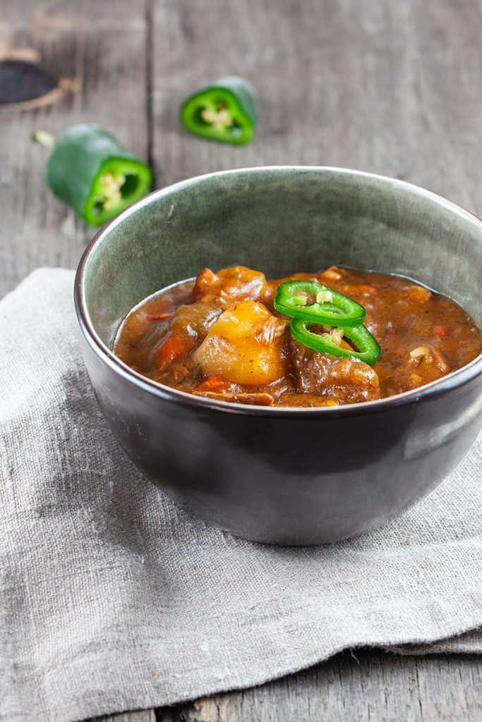 Slow cooker Antillean beef stew