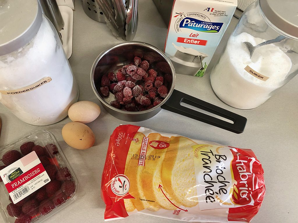 French toast with raspberries ingredients