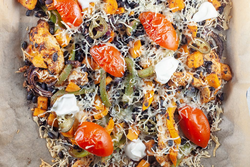 Mexican sweet potato and black bean casserole