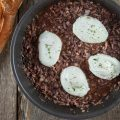 Oeufs en meurette poached eggs in red wine sauce 120x120 - Scrambled eggs with black olives