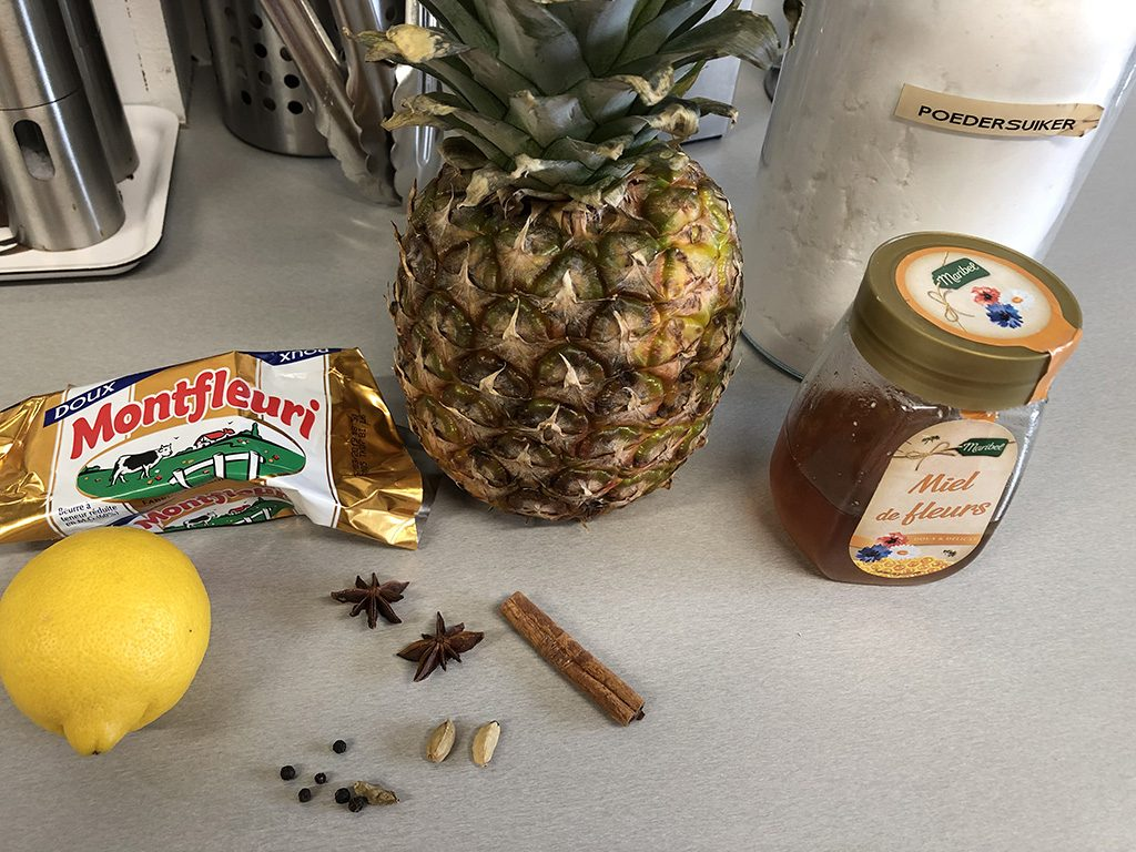 Oven roasted pineapple ingredients 1024x768 - Oven roasted pineapple