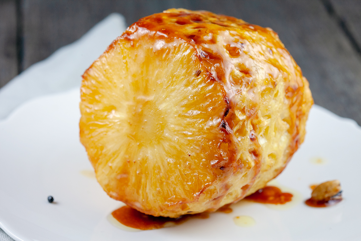 Oven roasted pineapple