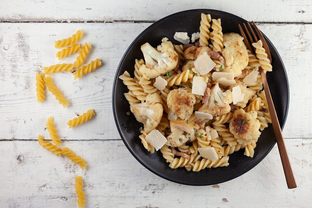 Caramelised cauliflower pasta