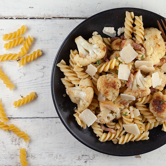 Caramelised cauliflower pasta square - Caramelised cauliflower pasta
