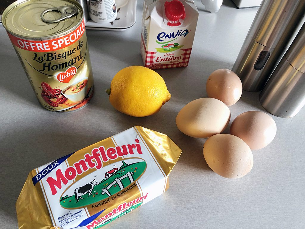 Creamy lobster sauce ingredients