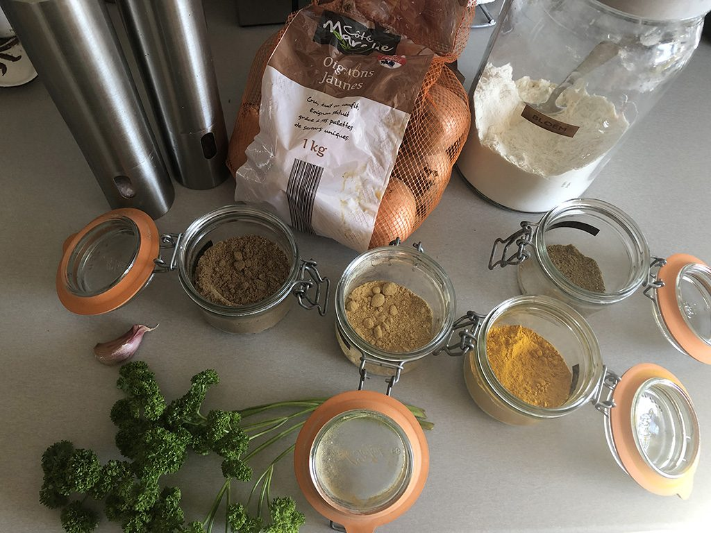 Onion fritters ingredients