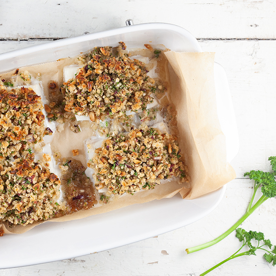 Oven baked cod with a crispy crust square - Oven-baked cod with a crispy crust