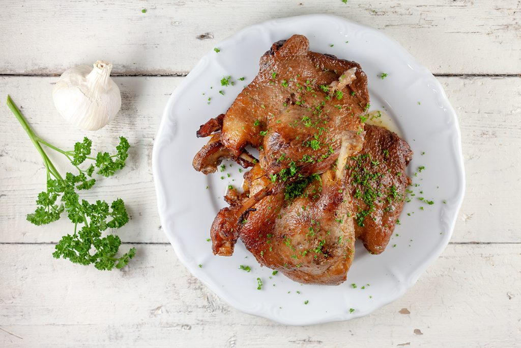 Spiced duck legs