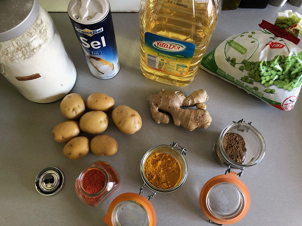 Airfryer samosas ingredients