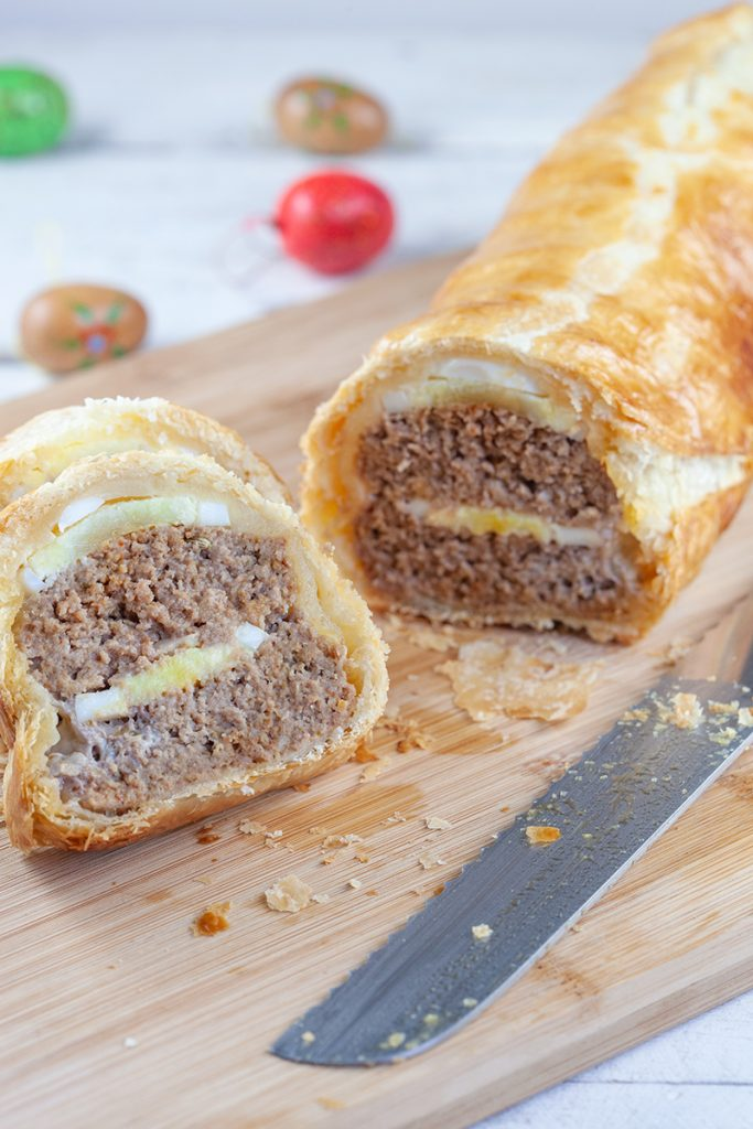 Ground beef and egg Wellington