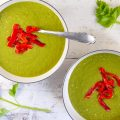 Pea soup with roasted red pepper 120x120 - Celery and potato soup