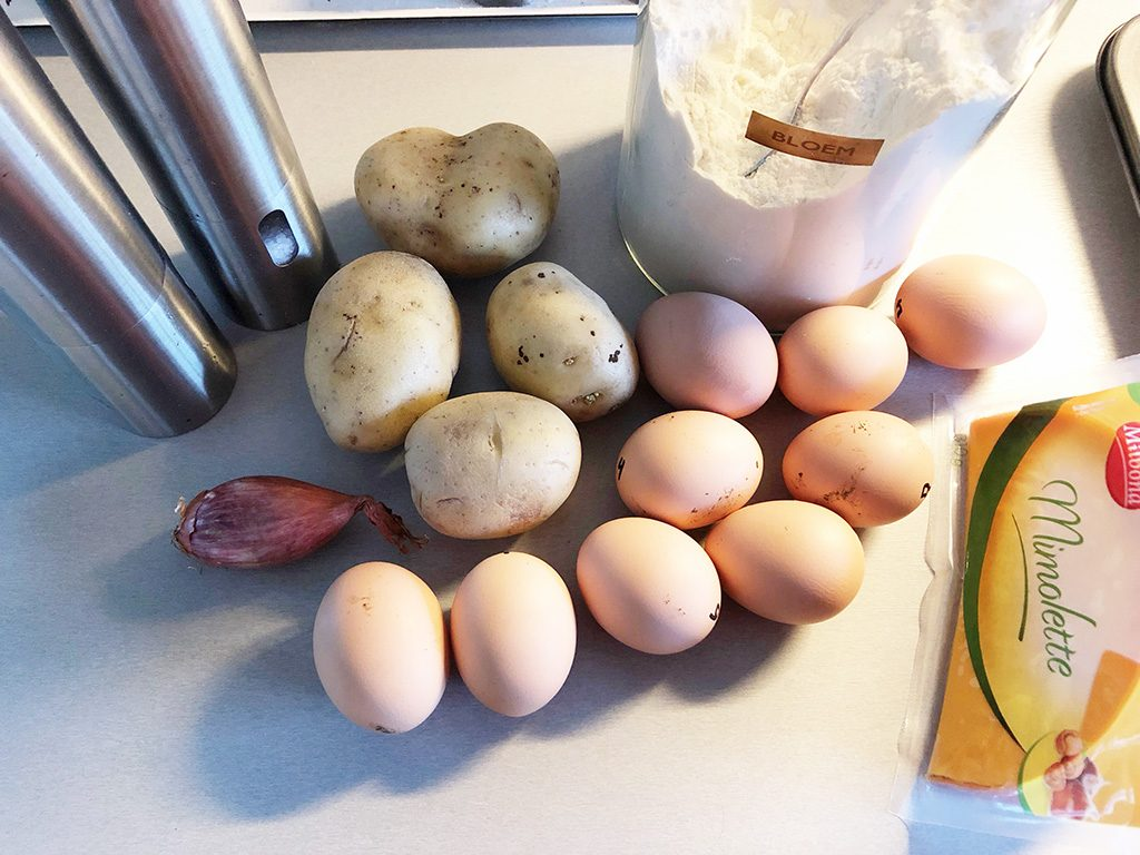 Rösti-egg muffins ingredients