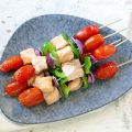 Barbecued salmon kebabs 120x120 - Barbecued chicken zucchini skewers