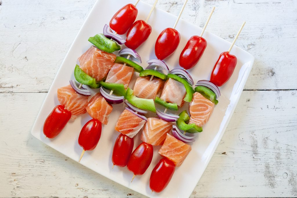 Barbecued salmon kebabs 3 1024x683 - Barbecued salmon kebabs