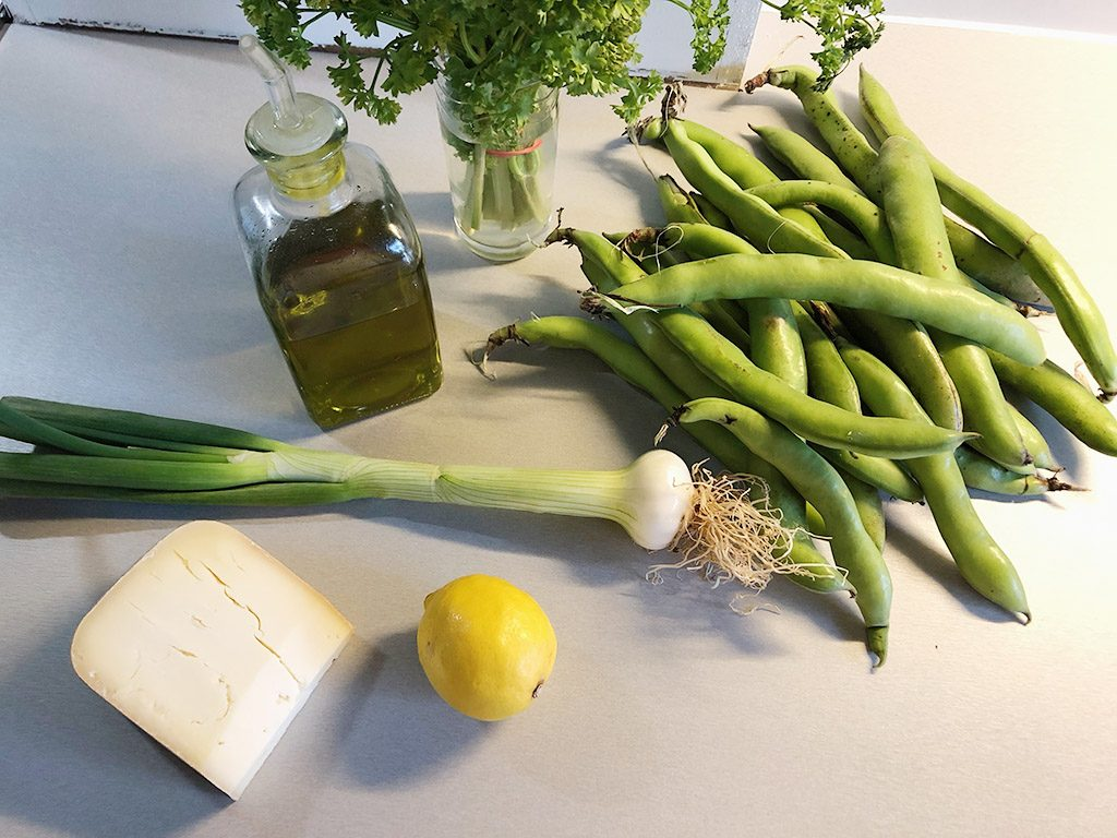 Broad bean and lemon salad ingredients 1024x768 - Broad bean and lemon salad