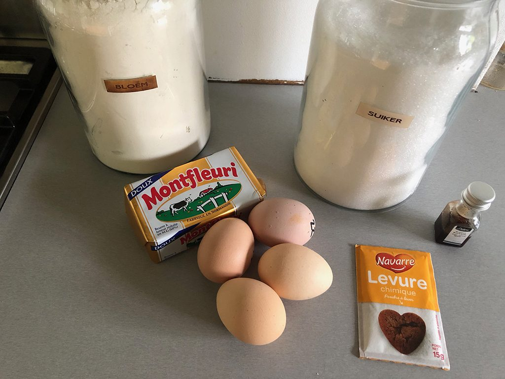 Basic vanilla cake ingredients
