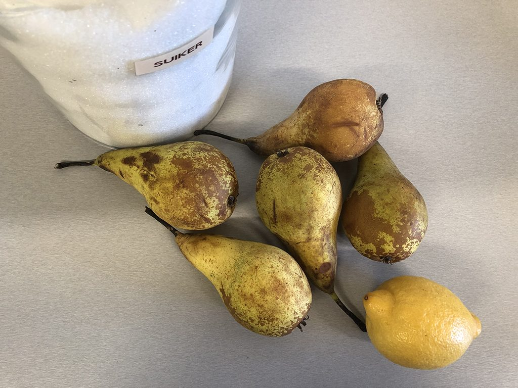 Pear sorbet ingredients