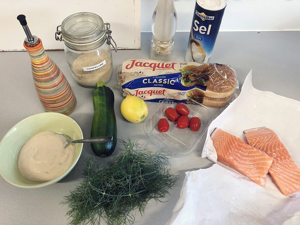 Salmon burgers ingredients 1024x768 - Salmon burgers