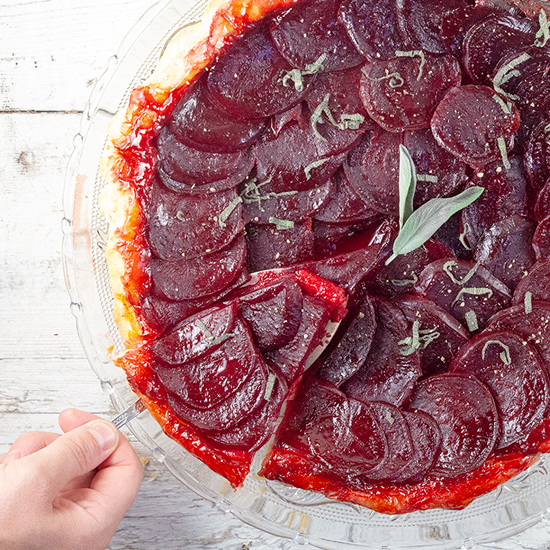 Beetroot tarte tatin square - Beetroot tarte tatin