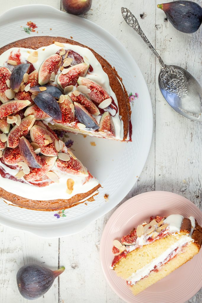Olive oil cake with mascarpone and figs 2 683x1024 - Olive oil cake with mascarpone and figs