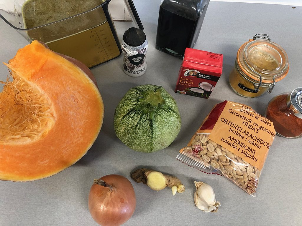 Pumpkin and zucchini soup ingredients 1024x768 - Pumpkin and zucchini soup