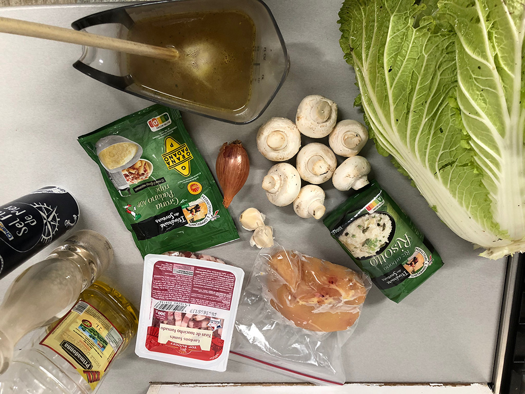 Chicken and cabbage risotto ingredients