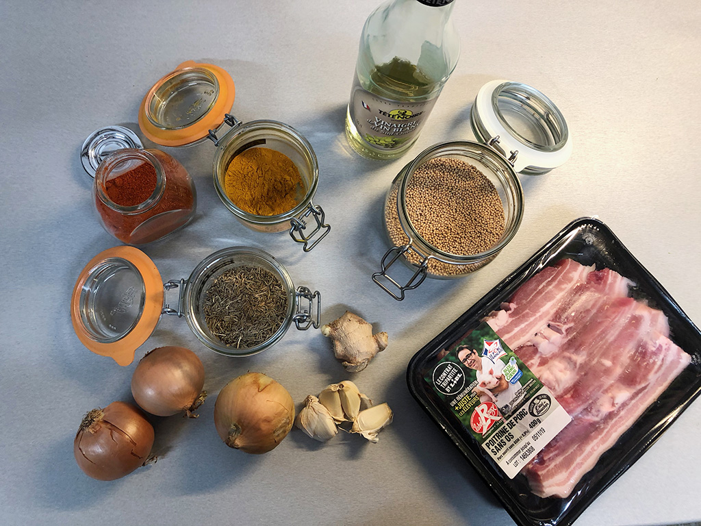 Pork belly curry ingredients - Pork belly curry