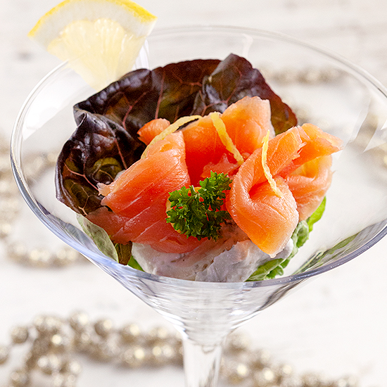 Smoked salmon cocktail