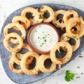 Beer battered onion rings 120x120 - Onion fritters