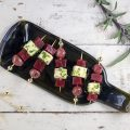 Beet and feta skewers 120x120 - Vegetarian beetroot tagliatelle with feta