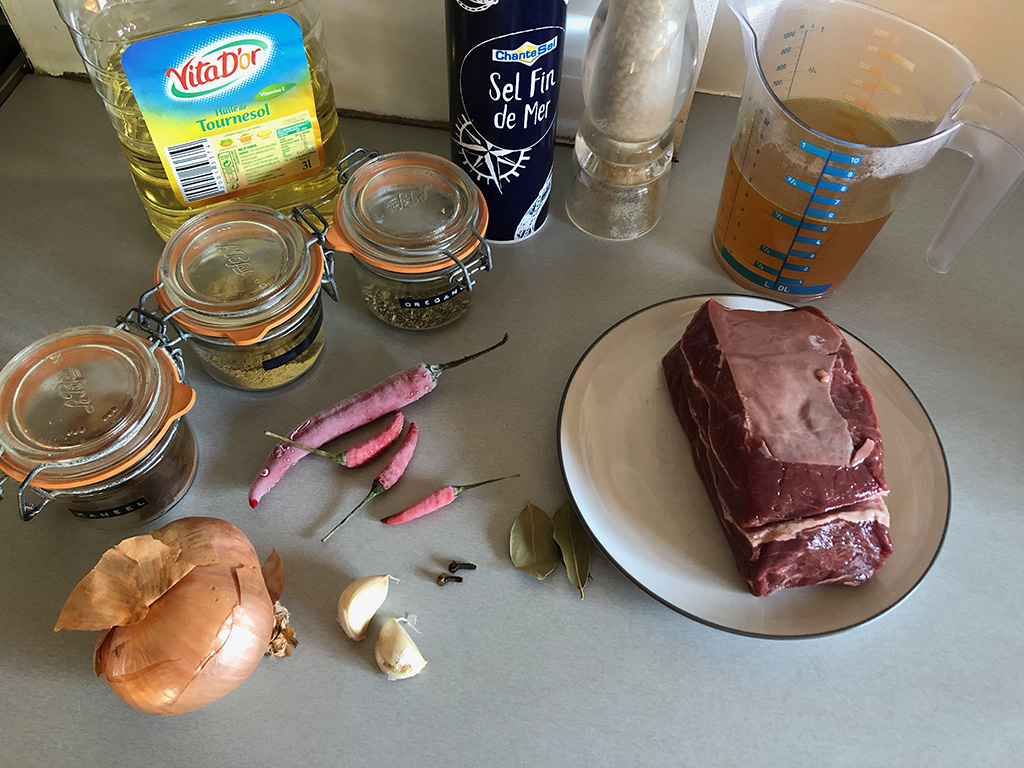 Birria de res – Mexican stew ingredients - Birria de res - Mexican stew