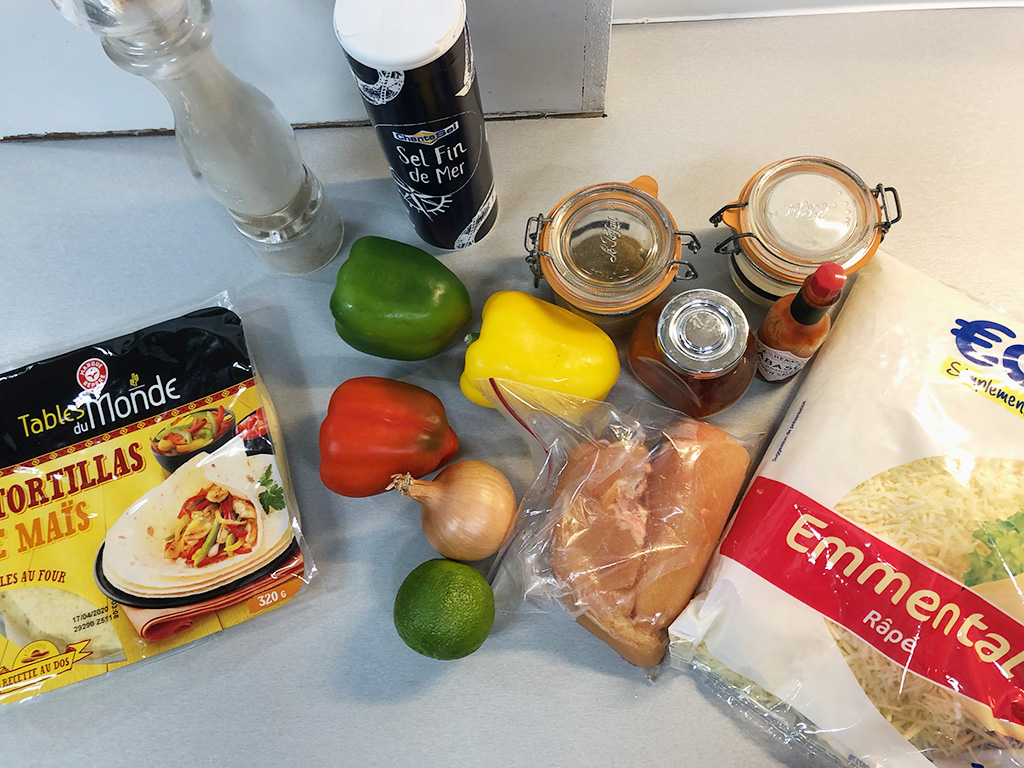 Chicken fajita ingredients - Chicken fajita