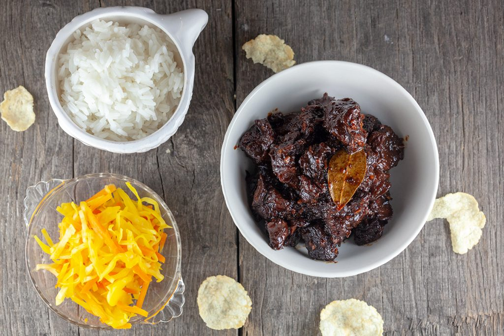Oriental slow cooker beef stew