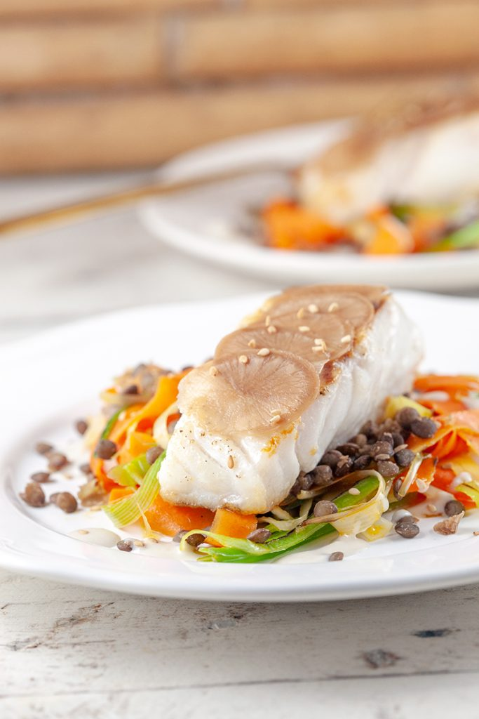 Cod with vegetable stir fry 2 683x1024 - Cod with vegetable stir fry