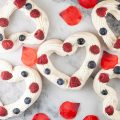 Valentines pavlovas with red fruits 120x120 - Waffles with red fruits