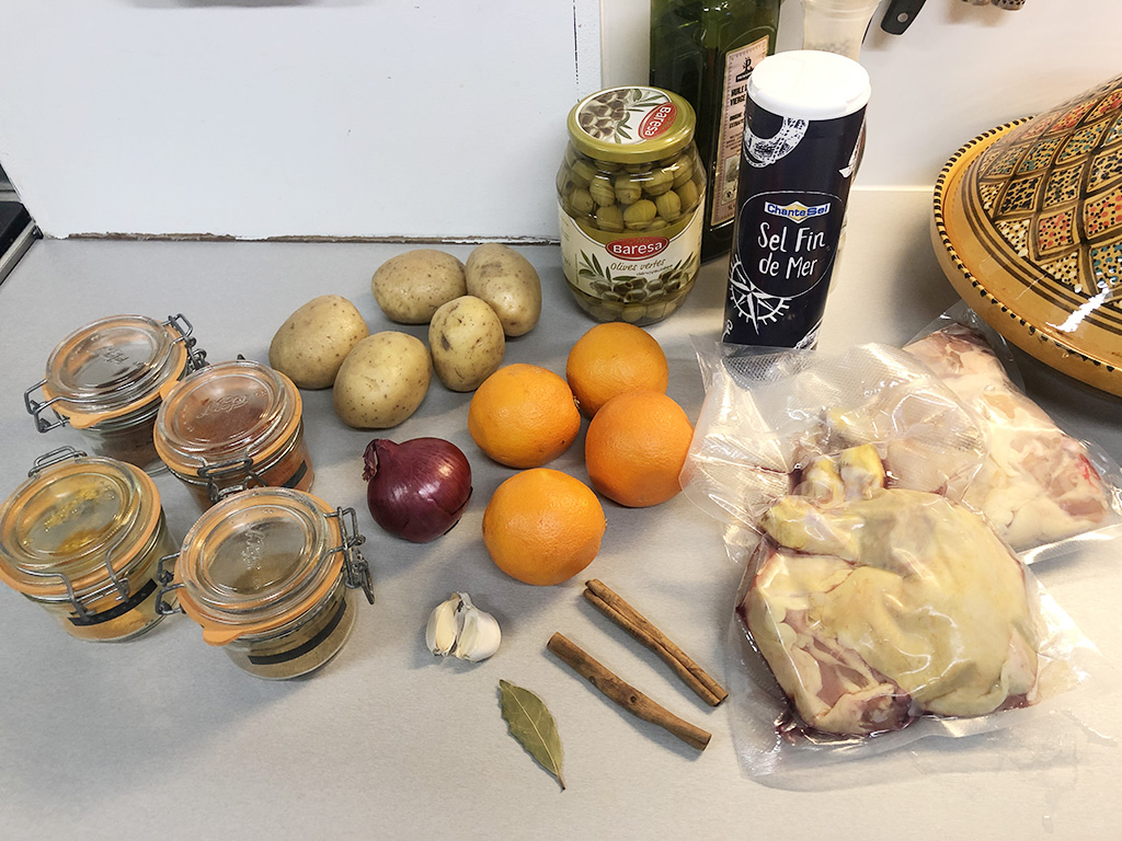Chicken tagine ingredients - Chicken tagine
