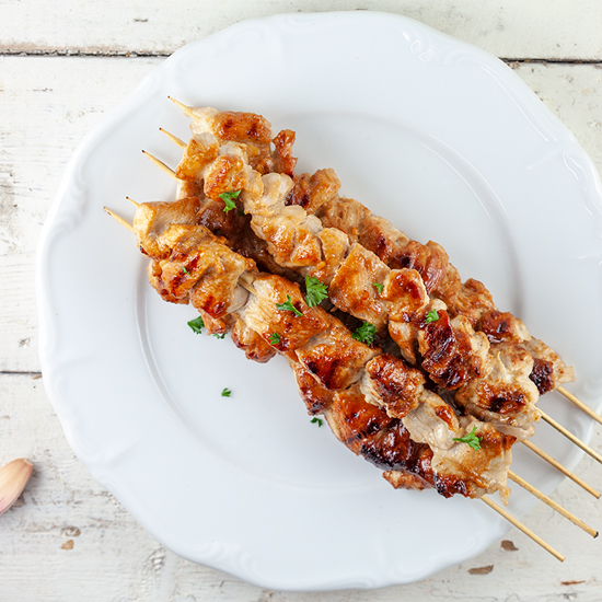 Honey mustard turkey skewers