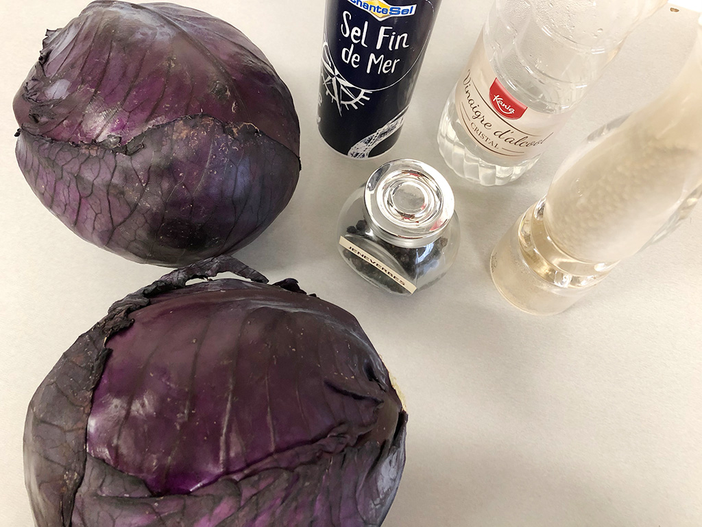 How to make red sauerkraut ingredients - How to make red sauerkraut