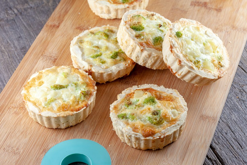 Mini pineapple quiches