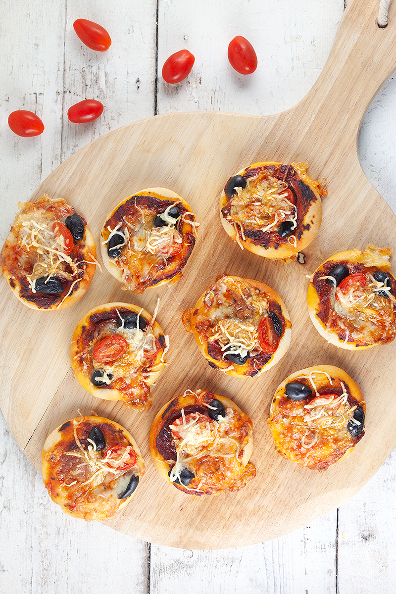 Mini pizza bites