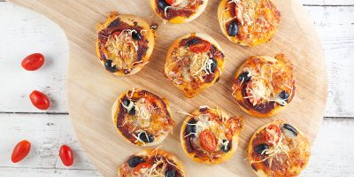 Mini pizza bites 400x200 - Homepage