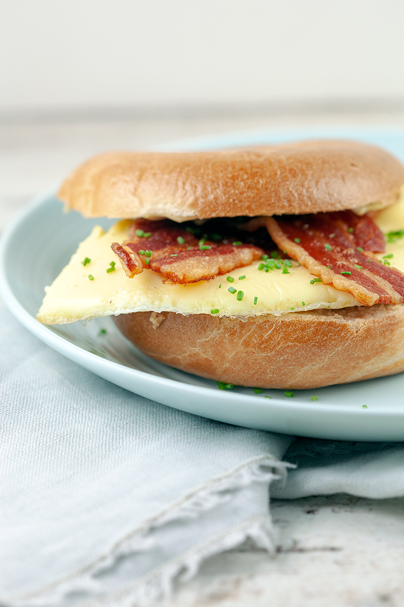 Bacon and egg bagel 2 - Bacon and egg bagel