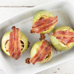 Beef stuffed zucchini with cheese and bacon 250x250 - Latest recipes