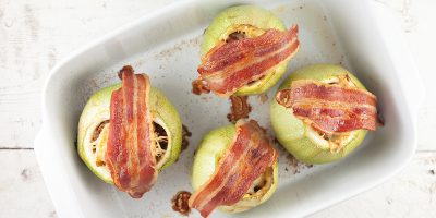 Beef stuffed zucchini with cheese and bacon 400x200 - Homepage