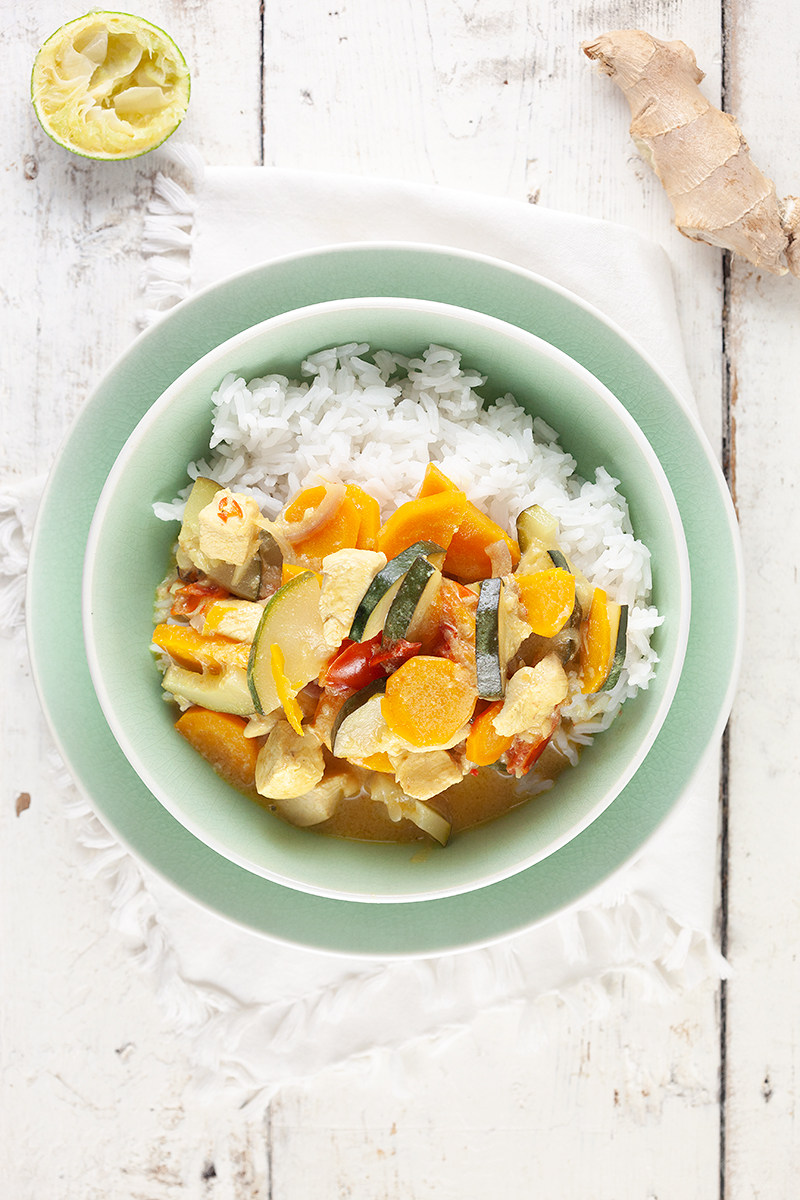 Chicken and zucchini coconut curry 2 - Chicken and zucchini coconut curry