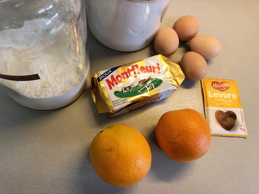 Orange cake ingredients - Orange cake