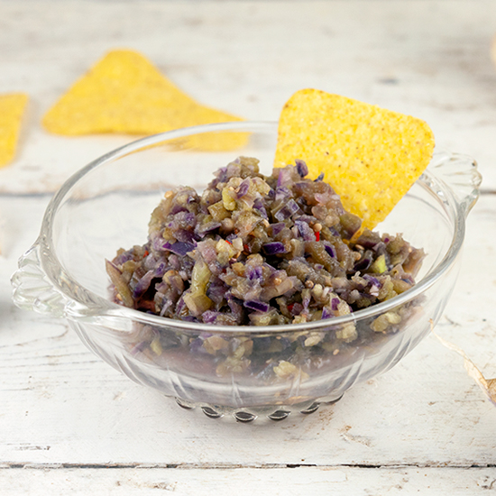 Purple tomatillo salsa square - Purple tomatillo salsa